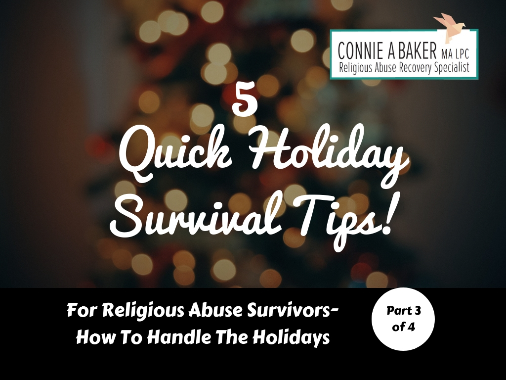 For Religious Abuse Survivors-How to Handle the Holidays